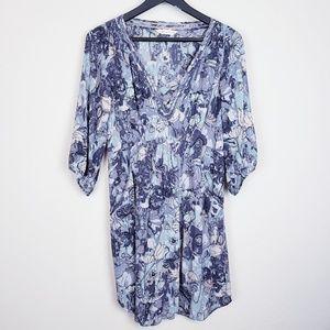 Rebecca Taylor floal silk shirt dress 10